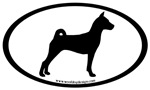 Basenji Dog Oval