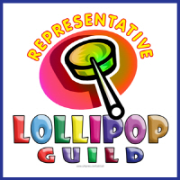 A Lollipop Guild Representative design. Graphic includes colorful candy on a stick. Great for the little munchkins in your life.