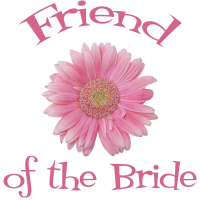 Friend of the Bride Wedding Apparel Pink Daisy