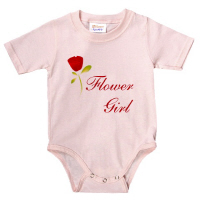 Wedding Party Red Rose Flower Girl T Shirt