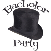 Cool Top Hat Bachelor's Party Hats Buttons Shirts