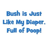 Bush Is Like My Diaper (blue)