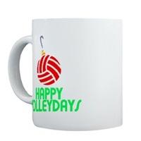 VolleyChick Happy Volleydays Ornament
