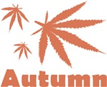 autumn weed leaves t-shirt