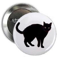 Black Cat Buttons