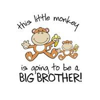 this little monkey big brother shirt
