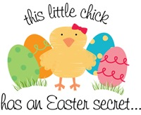 Easter Chick's Secret Big Sister T-shirt