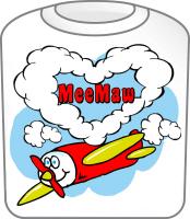 Love MeeMaw Cute Airplane