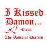 I Kissed Damon, red w/raven