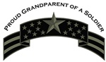 Proud Grandparent of a Soldier, Stars & Stripes©,