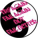 try again fail again but fail better