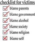 Checklist For Victims
