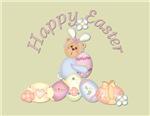Happy Easter - Bunny w/Eggs