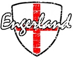 Engerland football distressed design
