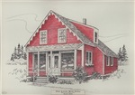 Little Red Store Illustration