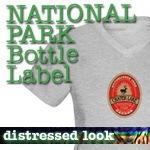 National Park T-Shirts: Bottle Label