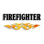 Firefighter Flame Logo Theme Tees and Gifts!