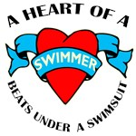Heart of a Swimmer t-shirts & gifts
