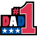 #1 DAD T-Shirt - Father's Day Gift