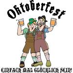 Oktoberfest German Just Be Happy Drinking T-Shirt