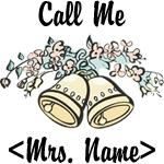Custom Just Married (Mrs. Name) T-Shirts