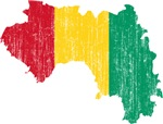Guinea Flag And Map