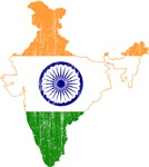 India Flag And Map