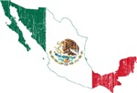 Mexico Flag And Map