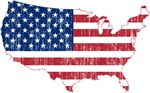 United States Flag And Map