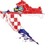 Croatia Flag And Map