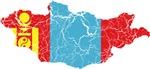 Mongolia Flag And Map