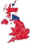 United Kingdom Civil Ensign Flag And Map