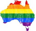 Australia Rainbow Pride Flag And Map