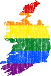Ireland Rainbow Pride Flag And Map
