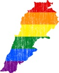 Lebanon Rainbow Pride Flag And Map