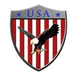U S A Metallic Shield