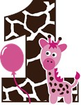 Girl Giraffe 1st Birthday