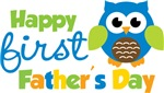 Boy Owl Happy 1st Fathers Day
