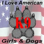 I Love American K9 Paw Girls & Dogs