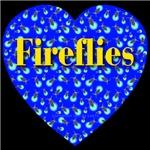 Fireflies Blue Heart Golden Font
