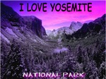 I Love Yosemite National Park Cyan