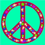Peace Symbol Stars Exotic Jade