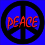 Peace Symbol Child's Script Blue