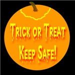 Trick or Treat Keep Safe Jack-o-lantern