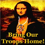 Bring Our Troops Home Mona Lisa Front & Back