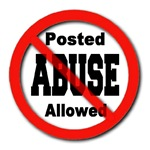 Posted No Abuse Allowed