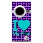 I Love My Flip Skyblue & Purple Hearts