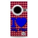 I Love My Flip Blue & Purple Hearts