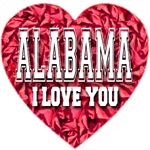 Alabama I Love You Style 2