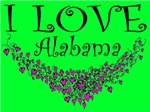 I Love Alabama Purple Hearts and Bitter Sweet Lime